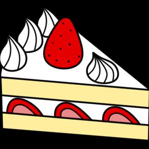 ショートケーキのフリー素材 スイーツイラスト