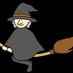 魔女のおばあさん フリー素材 ハロウィンイラスト