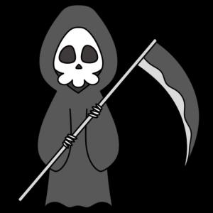 死神のフリー素材 ハロウィンイラスト