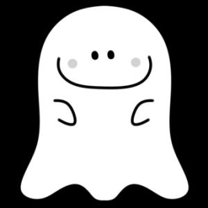 ハロウィンのおばけイラスト 白黒フリー素材