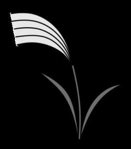 ススキの白黒フリー素材 月見イラスト