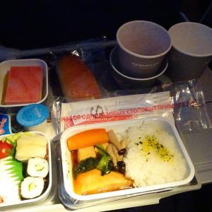 旅のリアルタイムメモ アエロフロートSU261便の機内食と、使用機材B777-300のエコノミークラスおすすめシート