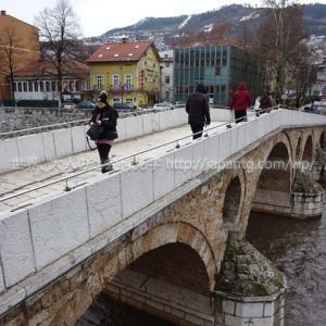 """2019ボスニア・ヘルツェゴビナ2 サラエボでは秀逸なゲストハウス""""ホステル フランツ・フェルナンド""""に泊まり、450m離れたサラエボ事件の現場であるラテン橋をしげしげと眺めた件"""