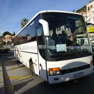 2019クロアチア④ ドブロブニク旧市街/ケーブルカー乗り場前から本数の少ないシャトルバスで空港に行き、クロアチア航空OU669便でザグレブに飛んだ件