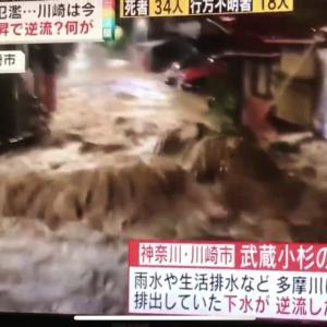 武蔵小杉ではマスクを着用しないと肺がやられてしまう状況、衛生面での配慮が必要な乾いた汚泥が大気中を舞う現場