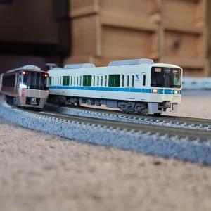 週末の電車遊び