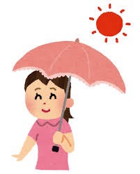 ソーシャルディスタンスに日傘?