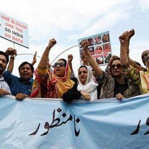 カシミール問題、パキスタンの反応は