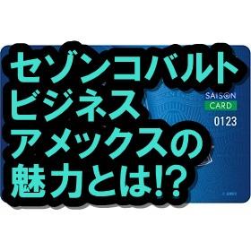 セゾンコバルトビジネスアメックスの実力とは!? 経営者必見!!