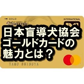 日本盲導犬協会ゴールドカードの魅力って?寄付もできるハイコストパフォーマンスクレカ!
