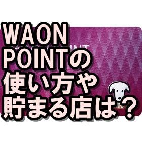 WAONPOINTカードの作り方は?使える店や貯まる店も!