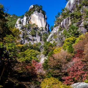 昇仙峡の紅葉 覚円峰から天鼓林まで