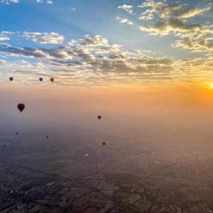 ミャンマー バガン遺跡の旅(5) 熱気球遊覧(後編)