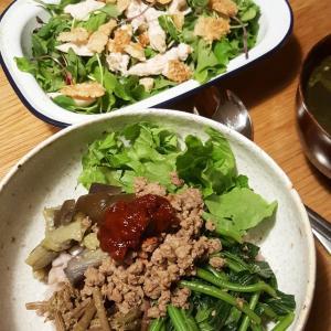 ヌルンジ(おこげ)とチキンのサラダ