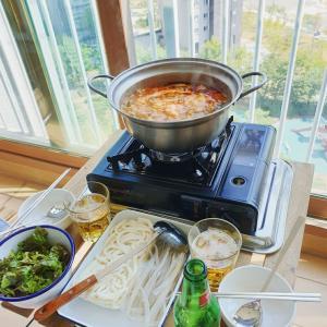 日曜日① ミールキットで韓国式もつ鍋