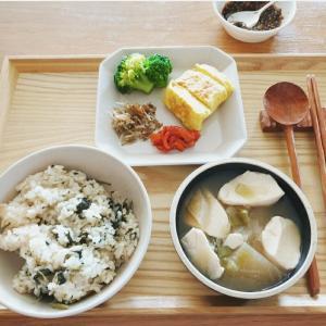 楽しい旧盆休み③ カフェモーニングと干し菜っ葉ご飯