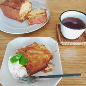 キャラメルりんごのパウンドケーキ