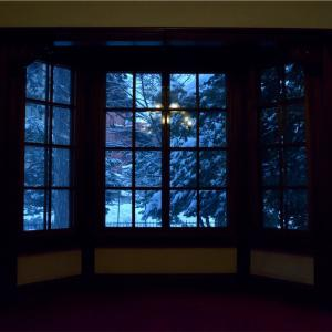 【一日一枚写真】邸宅内の雪景色画【一眼レフ】