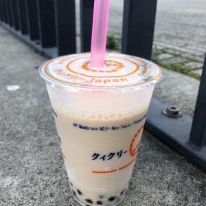 「クィクリー石狩街道店」ココナッツミルクティ&仙草ゼリー入り豆乳ミルクティ