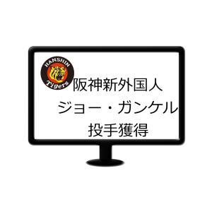 阪神、来期新外国人投手ジョー・ガンケル投手を獲得!