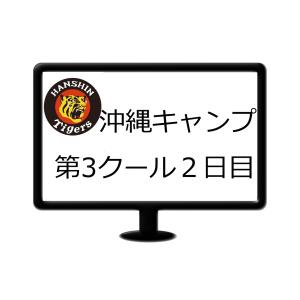 阪神2020年沖縄キャンプ第3クール2日目(2/14宜野座)ランチ特打等