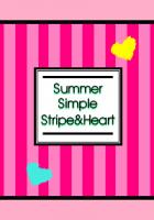 SummerSimpleStripe&Heart Yellow/PINK/Black&Pink [LINE着せかえ]