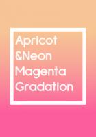 アプリコット&ネオンマゼンタ Gradation[LINE着せかえ]