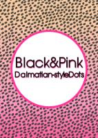 Black&Pink ダルメシアン風ドット[LINE着せかえ]