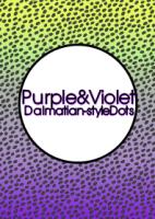 Purple&Violet ダルメシアン風ドット[LINE着せかえ]