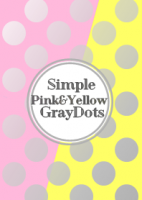 Simple Pink&Yellow GrayDot [LINE着せかえ]