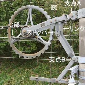 自動張力調整装置 滑車周囲のギザギザ
