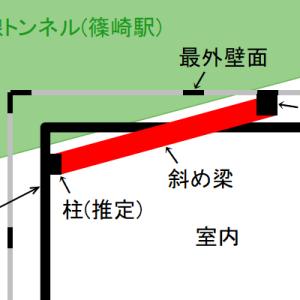 【建物好きの方へ】部屋を斜めに突き抜けている梁の謎