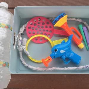 【1歳3歳育児】割れないシャボン液と巨大シャボン玉を作る試み①【夏休み10日目】
