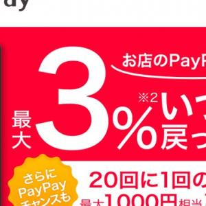 PayPayの4%還元を利用して節約生活