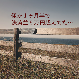 ループ・イフダンが僅か1ヶ月半で5万円超の決済益(2019.09.04)