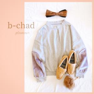 b-chad 袖にファーが付いた気軽に着たいtopsです