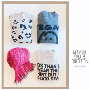 glamour sweater collection 色々な素材のセーターが揃いました