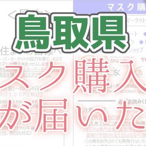 マスク購入券が届いた   鳥取県