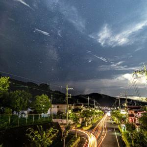 奈良県桜井市に流れる淡い夏の天の川