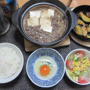 真夏の一人肉豆腐鍋