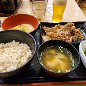 吉野家で夜食×2
