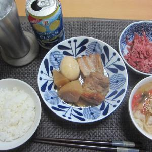 久しぶりの角煮(+豚バラのタジン蒸し)
