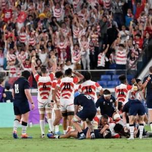 ラグビー日本代表 おめでとう