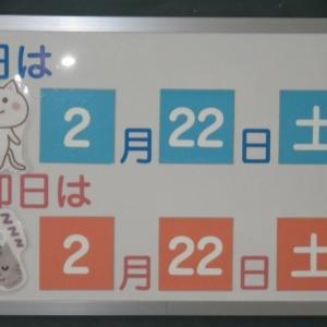 今日は、令和2年2月22日22時22分22秒と2が10個並んだ記念日!