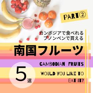 カンボジア・プノンペンで食べれる南国フルーツ5選 Part②