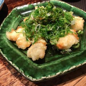 大阪梅田の渋い飲み屋街にある居酒屋 酒肆「門」の鯖サンドとネギあな