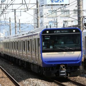 伊豆箱根鉄道大雄山線甲種輸送、その前にE235系1000番台試運転