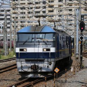 EF210 307押し太郎、京葉線開業30周年HM、ピンクの猫ラッピング電車