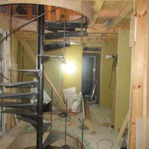 ピアノ室のある小住宅 螺旋階段設置