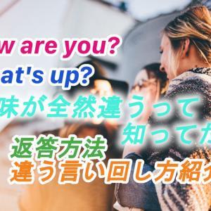 留学初期に苦労した英語の質問How are you?とWhat's up?の違い、他の聞き方例文と返答の仕方の紹介!